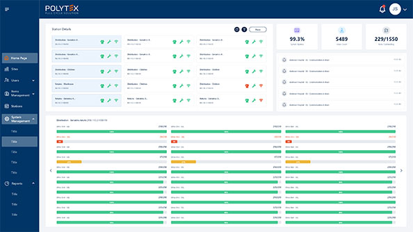 workwear usage tracking on cloud-based web application